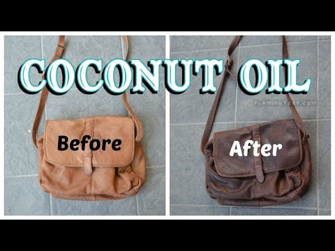 How to darken and soften leather with coconut oil