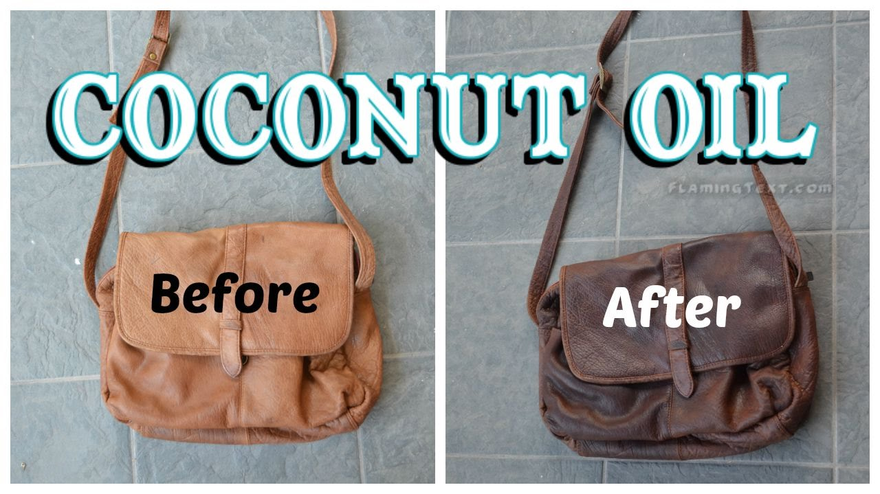 How to darken and soften leather with coconut oil - YouTube