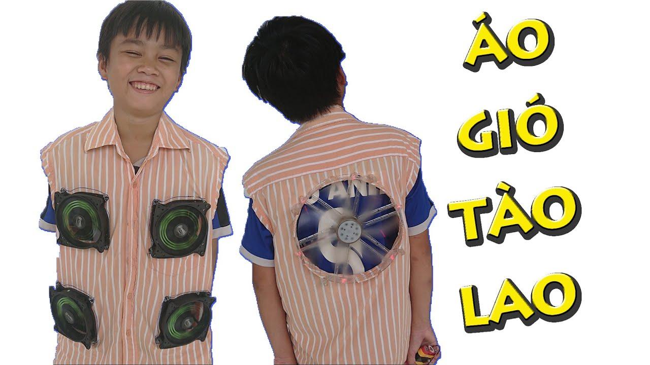 Anh Già Chế Áo Quạt Gió   DIY Fan Shirt   Thái Già Vlogs
