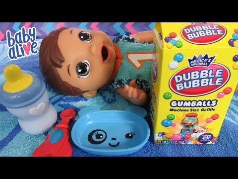 Feeding Baby Alive Super Snacks Snackin Luke Gumballs Pass or Fail