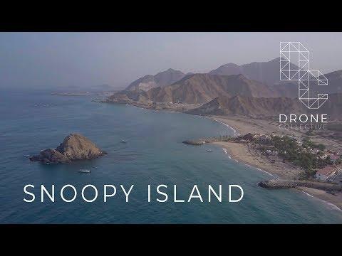 Snoopy Island - Fujairah, UAE - Drone