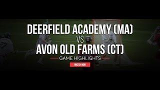 Deerfield Academy (MA) vs Avon Old Farms (CT) | 2016 High School Highlights
