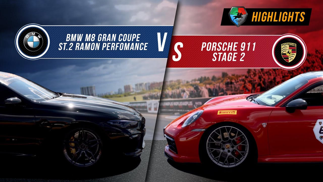 BMW M8 Gran Coupe St.2 vs Porsche 911 St.2 | UNLIM 500+ 2020 Highlight |