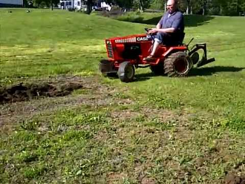 Case 224 Garden Tractor Plow 2 YouTube