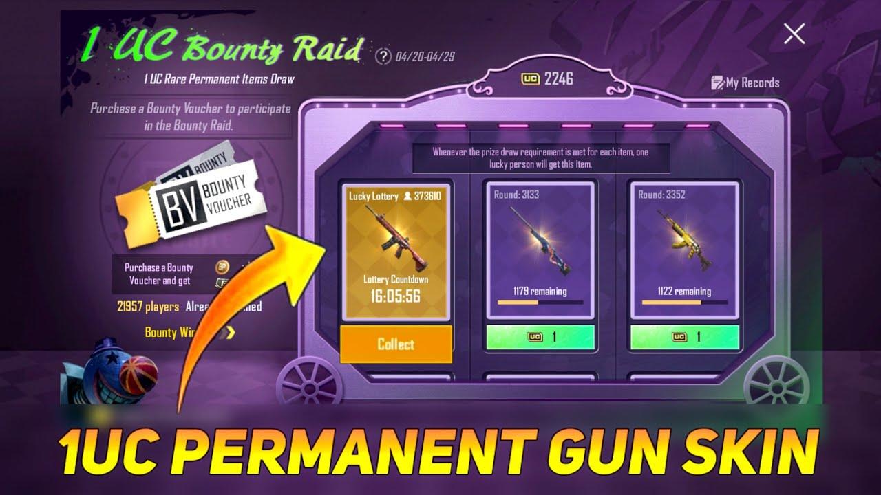 1UC M416 PERMANENT GUN SKIN NEW BOUNTY EVENT - SAMSUNG,A3,A5,A6,A7,J2,J5,J7,S5,S6,S7,59,A10,A20,A30