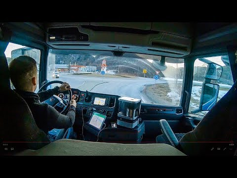 Driving Scania S520 - Cabin view