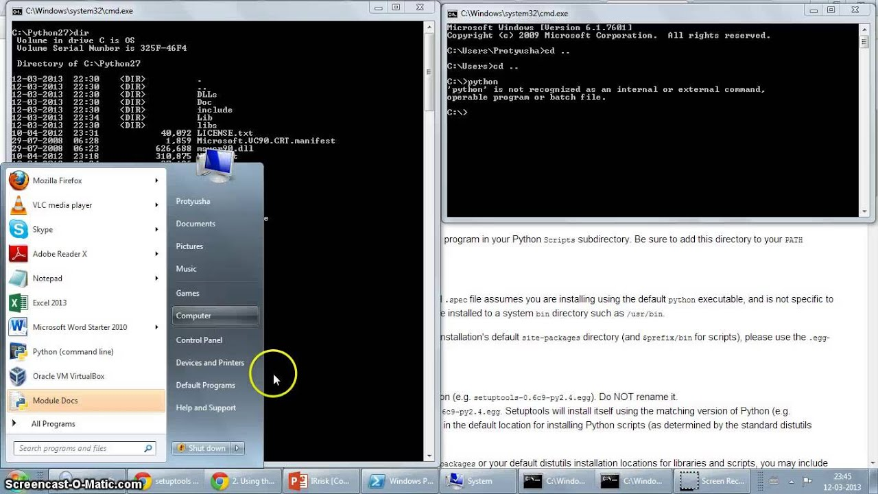 Python on Windows 7: Setup the Path