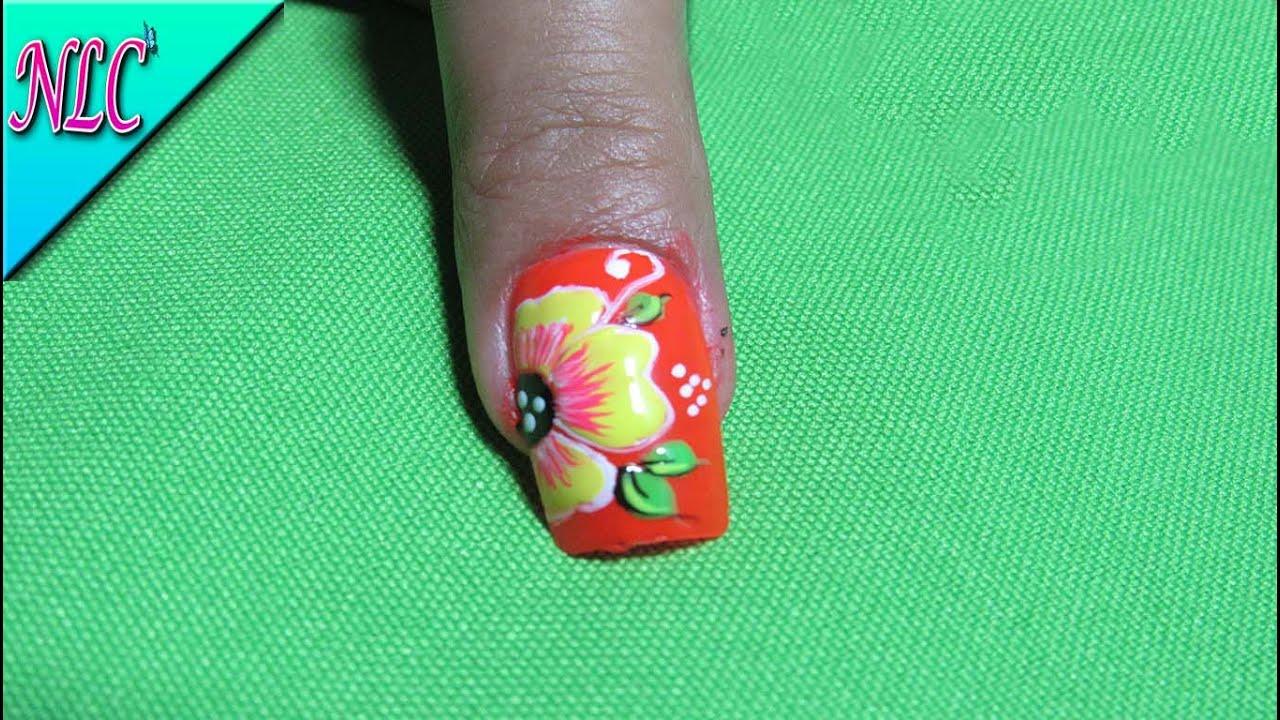 Perfecto Flor En Las Uñas Patrón - Ideas de Pintar de Uñas ...