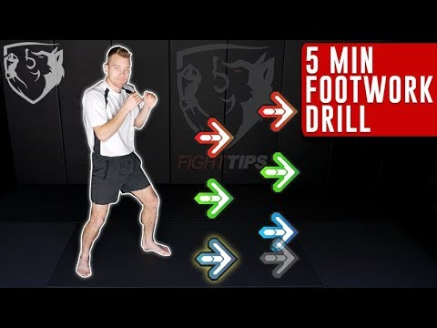 5min Boxing Footwork Drill: Follow Along with Punches!