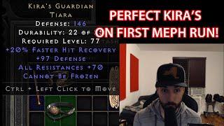 Perfect Kira's Guardian On First Mephisto Run 10/18/21 Diablo 2 Resurrected