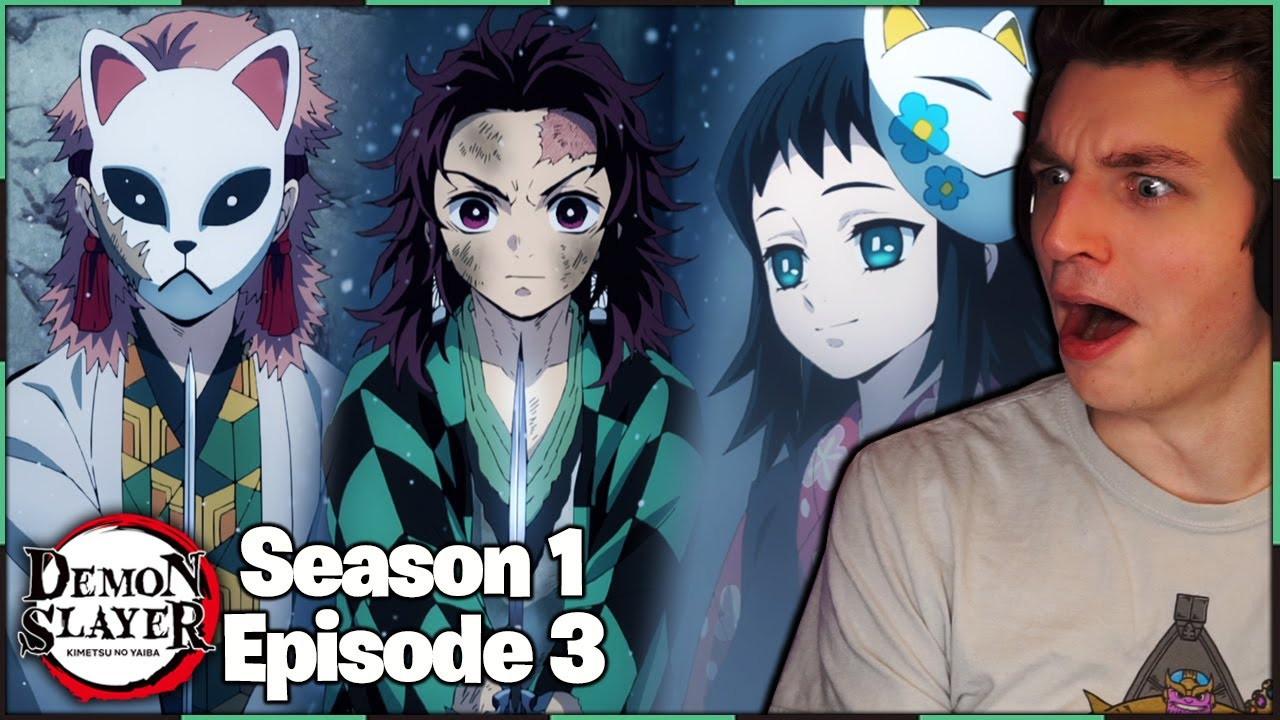 Download SLICE THE BOULDER?! MEETING SABITO AND MAKOMO!   Demon Slayer REACTION Season 1 Episode 3