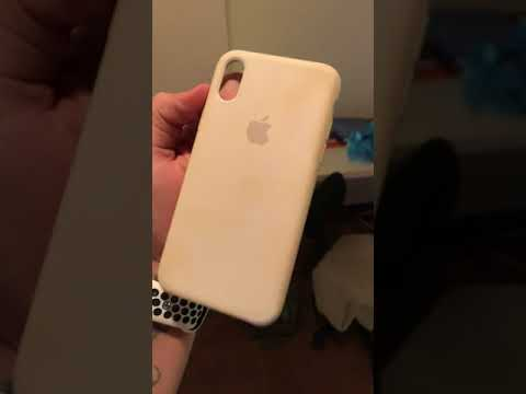 iPhone X white silicone case DO NOT BUY!