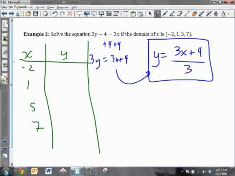 3-1 - Open Sentences in Two Variables