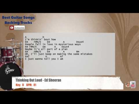 Drum drum chords for thinking out loud : Thinking Out Loud - Ed Sheeran Drums Backing Track with scale ...
