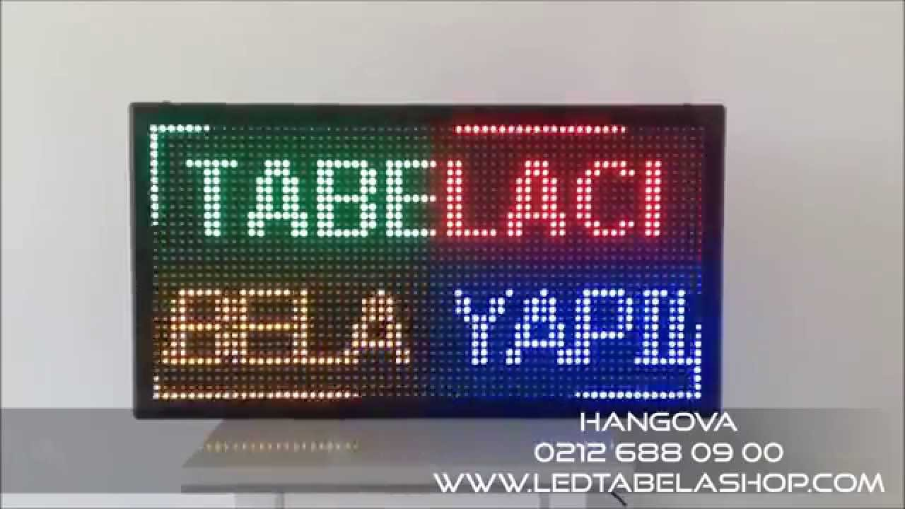 Renkli RGB (Full Color) Led Tabela - Hangova Reklam & Led
