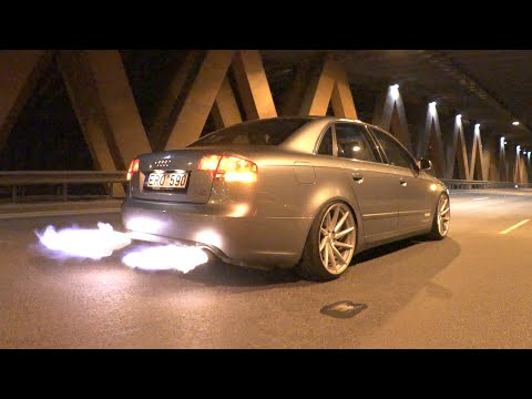 Flaming Audi A4 - Insane Chiptuning