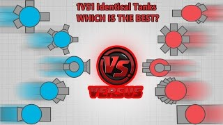 1VS1 WITH IDENTICAL TANKS!! WHICH IS THE BEST?! Sandbox Epic Match Tank Fight Battle | Diep.io