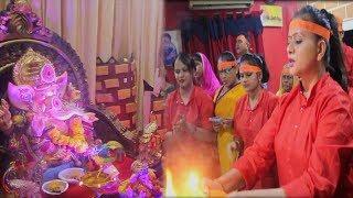 संगीता तिवारी Celebrating Ganesh Chaturthi Sangeeta Tiwari ने की बड़े धूम धाम से गणेश पूजा