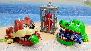 Видео для детей с игрушками Герои в масках - Голодный желудок! Самые новые игрушечные мультфильмы.