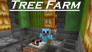 Tree Farm - How to build in Minecraft 1.15