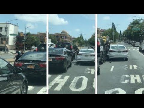 Greenpoint road rage attack caught on video