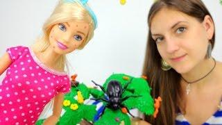 Видео для девочек. Аня и Барби: что надеть на прогулку в парке