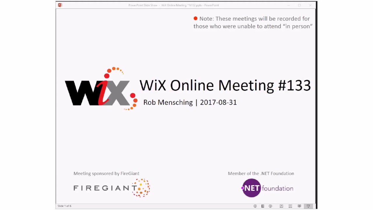 WiX Online Meeting #133 Highlights