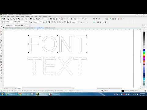 Corel Draw Tips & Tricks Text Or Font Outline Line Dotted And More