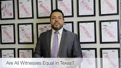 Are all witnesses equal in a criminal case? Houston Texas Criminal Lawyer Eric J Benavides