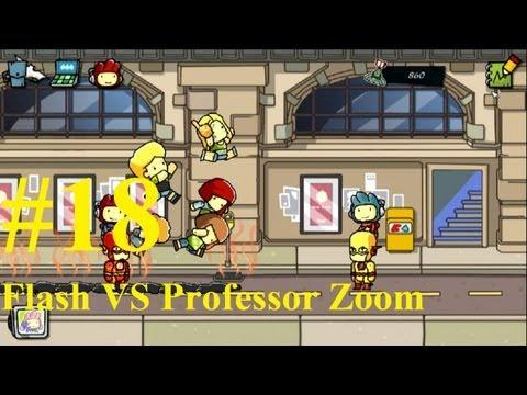 Scribblenauts Unmasked Complete Gameplay PC 2013 #18 : Flash VS Professor Zoom