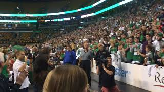 Kyrie Irving, Boston Celtics introduced before open practice