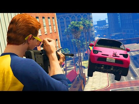 SNIPERS vs COCHES!! A TOPE!! - GTA V ONLINE