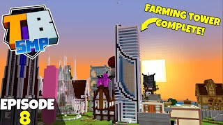 Truly Bedrock S2 Ep8! Farming Tower Completion! Bedrock Edition Survival Let's Play!