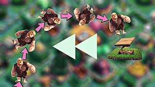 awesome REVERSE video clip of Clash Of Clans