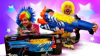Игры стрелялки   Лучший подарок для Нерфера   Бластеры НЕРФ в онлайн видео для мальчиков