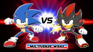 Sonic the Hedgehog vs Shadow the Hedgehog Animation - MULTIVERSE WARS