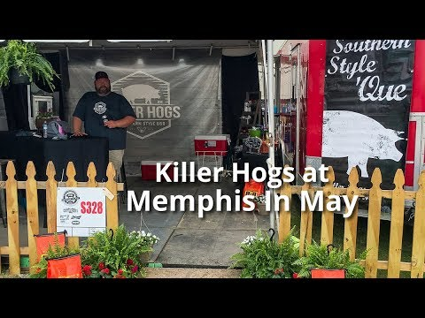 Malcom Reed's Killer Hogs Competition Team at Memphis In May 2018