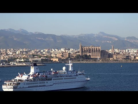 Spain Balearic Islands Mallorca - cruise vessel MV Berlin in Palma