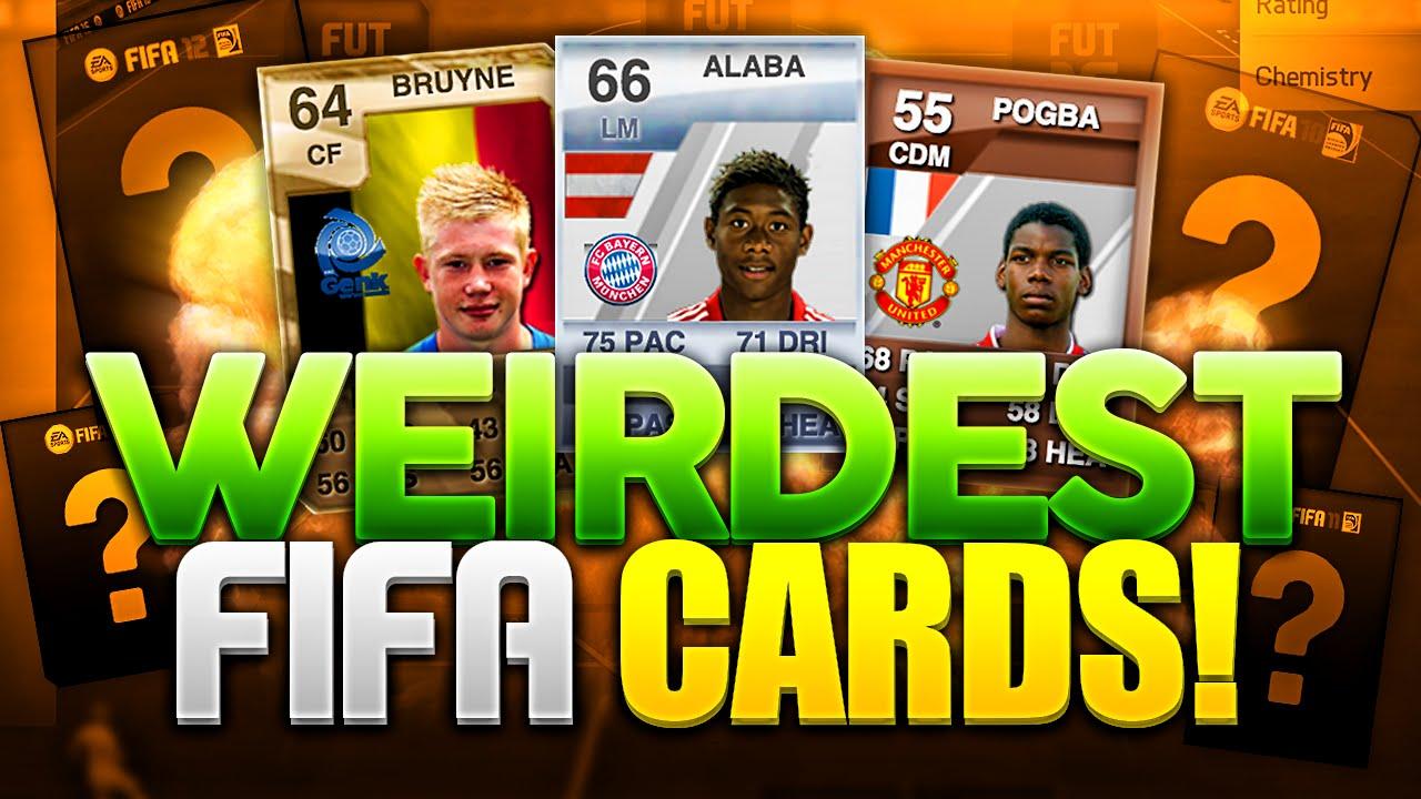 WEIRDEST FIFA CARDS! - YouTube