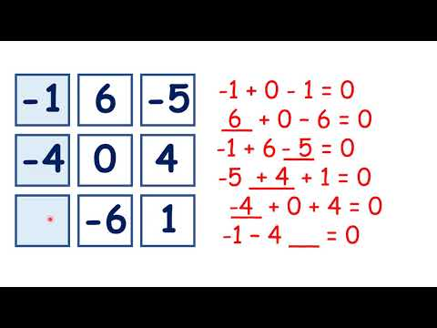 Solve magic squares with negative numbers - YouTube