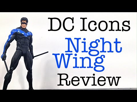 DC Collectibles DC Icons (Hush Silence) NIGHTWING Action Figure Review Toy Review