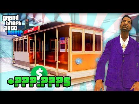 Сколько Зарабатывает Водитель Трамвая на Arizona RP! - Жизнь Бомжа GTA SAMP #106