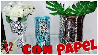 DIY Jarrones Decorativos de Vidrio y Espejo del dollar tree Candelabros GLAM