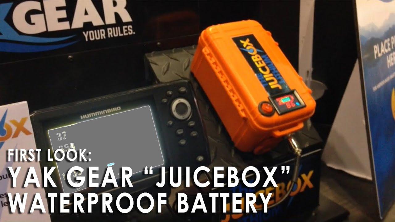New juicebox waterproof lithium battery for kayak fishing for Ice fishing battery box