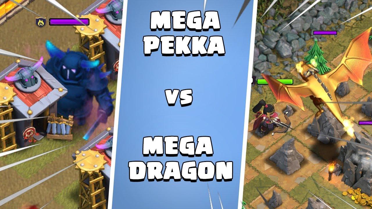 Mega Pekka vs Mega Dragon Ultimate Battle - Clash of Clans - COC