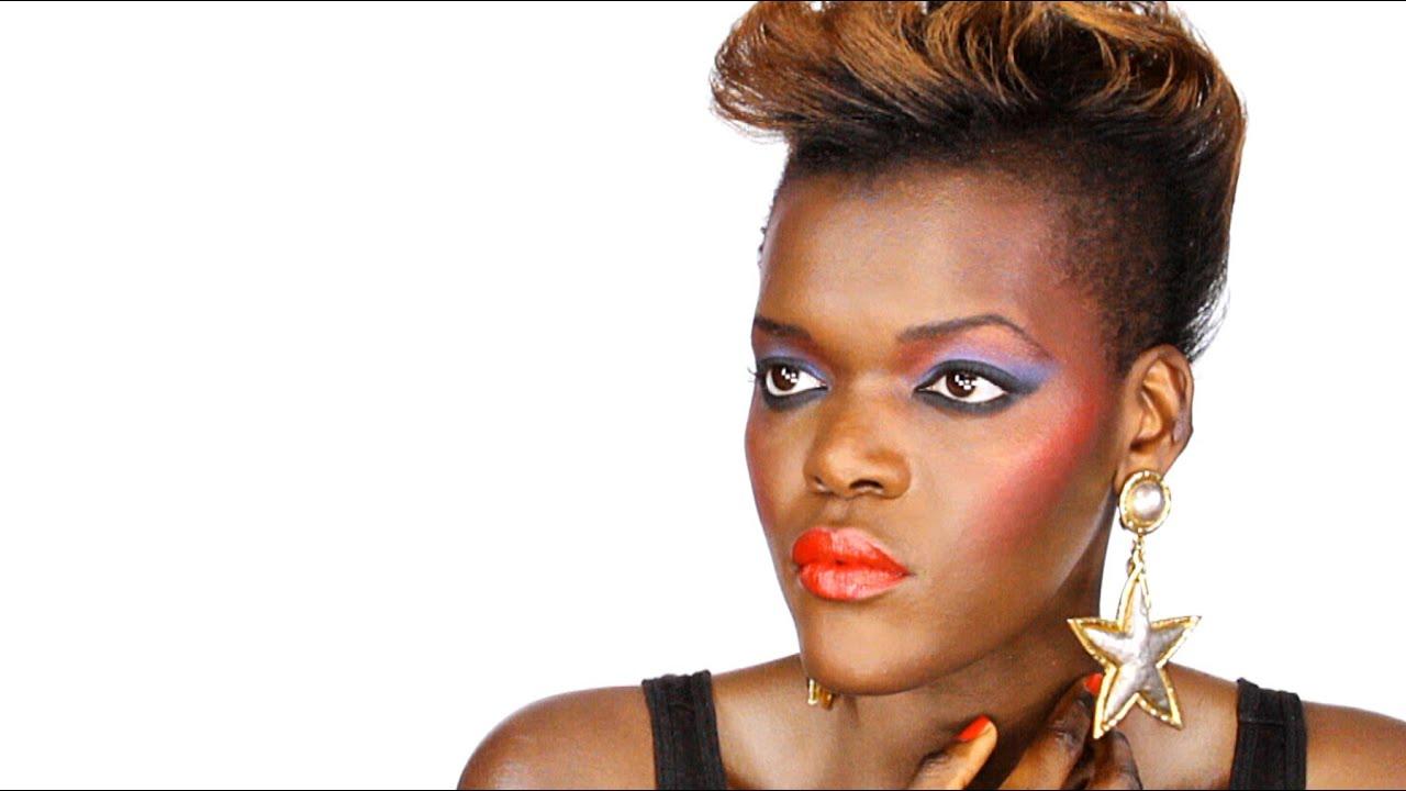 retro 80's makeup