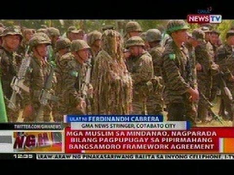 BT: Muslim sa Mindanao, nagparada bilang pagpupugay sa pipirmahang Bangsamoro Framework Agreement