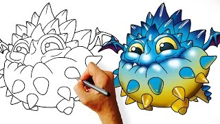 How to Draw Pop Thorn (Skylanders) Easy