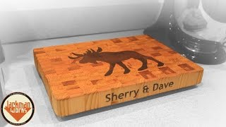 Moose Inlay End Grain Cutting Board - Jackman Carpentry