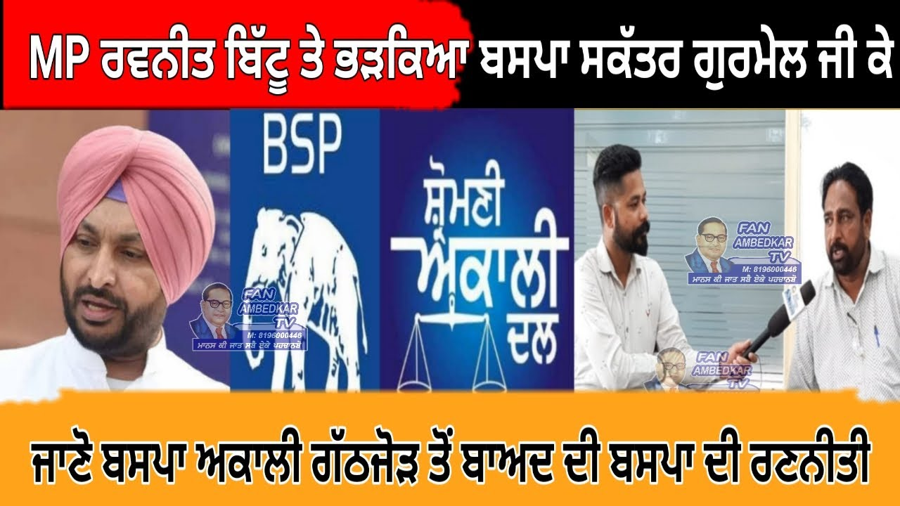 MP Ravneet Bittu ਤੇ ਭੜਕਿਆ ਬਸਪਾ ਸਕੱਤਰ Gurmel GK ਜਾਣੋ Bsp Akali ਗੱਠਜੋੜ ਤੋਂ ਬਾਅਦ Bsp ਦੀ ਰਣਨੀਤੀ #Bsp